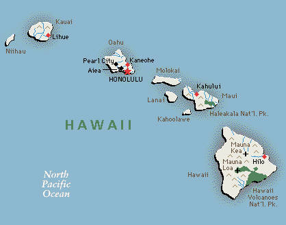 Hawaii HI DJs Photographers Videographers - Hawaii cities map