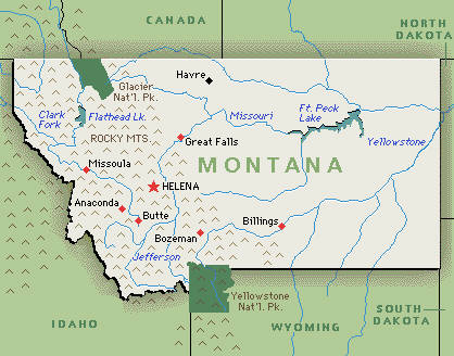 Montana MT DJs Photographers Videographers - Map of montana cities