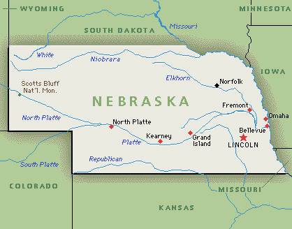 Nebraska NE DJs Photographers Videographers - Nebraska rivers map